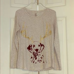 Crown & Ivy authentic tee Dalmatian size small